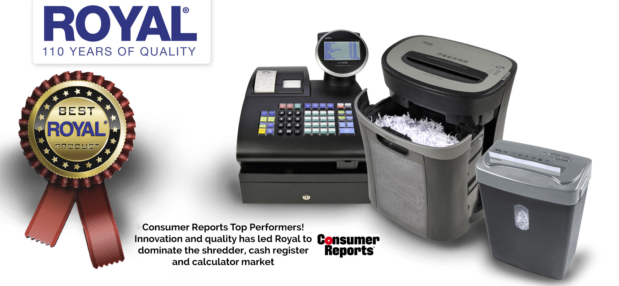 Consumer Reports Top Performance Shredder Pick | Royal Consumer Information Products