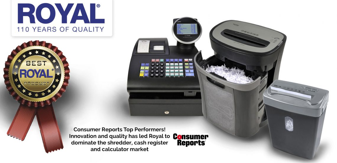 Consumer Reports Top Performance Shredder Pick Royal Information Products